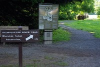 Hiking with dogs in the Smokey Mountains may take you to the Oconaluftee River Trail