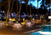 Image of a beautiful outdoor dining area at a pet friendly hotel - Casa Marina Beach & Resort