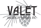 logo for pet friendly vacation home property management company Valet Vacation Rentals in Idaho